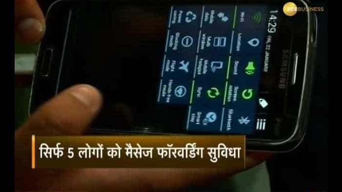 WhatsApp's eyes on people forward messages in bulk