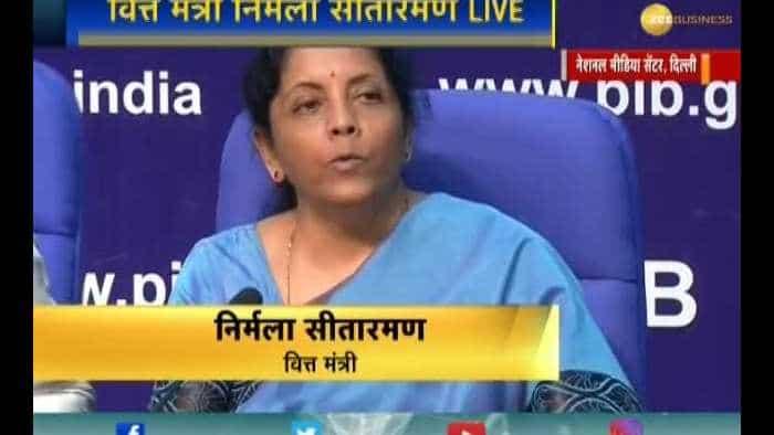 Finance Minister Nirmala Sitharaman addresses media on the Indian economy's state