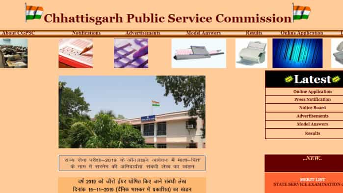 CGPSC result: Result announced; Visit  www.psc.cg.gov.in to check the result