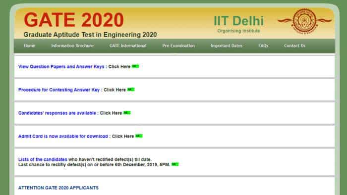 GATE 2020 question papers released at gate.iitd.ac.in, answer key to be out soon