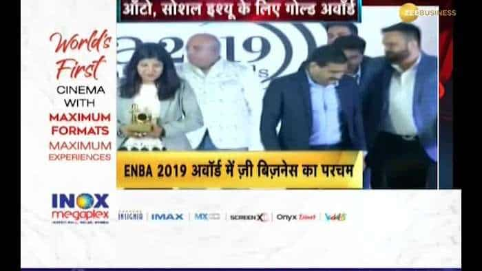 Zee Business' Zeegnition got gold award for Auto Sector at ENBA Awards 2019