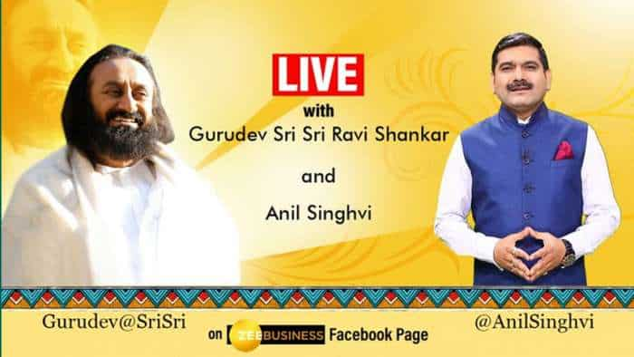 #StarsOnZeeBusiness: When markets meet spiritualism! Anil Singhvi interviews Gurudev Sri Sri Ravi Shankar - WATCH FULL VIDEO