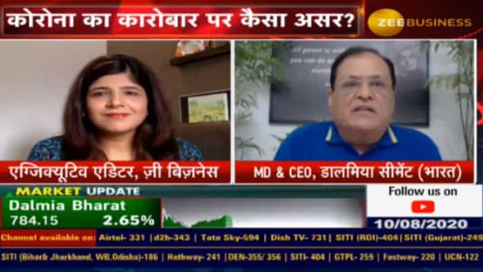Cement Industry may see 15-20% demand contraction in FY21: Mahendra Singhi, Dalmia Cement (Bharat) Ltd
