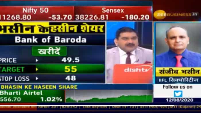 Buy BoB, Bharti Airtel; Sell Tata Steel, expert Sanjiv Bhasin tells Anil Singhvi in his stock recommendations