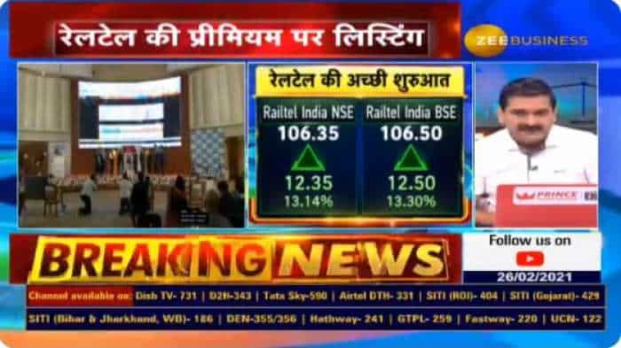 Railtel IPO strategy with Anil Singhvi: Share price rises 5 pct on debut today