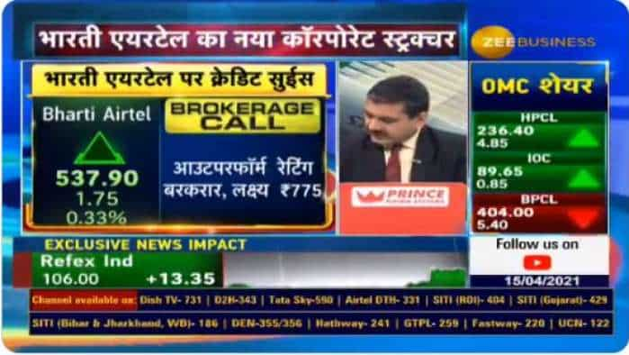 Bharti Airtel Share Price – How will the new corporate structure impact company stock? Zee Business has this EXCLUSIVE report