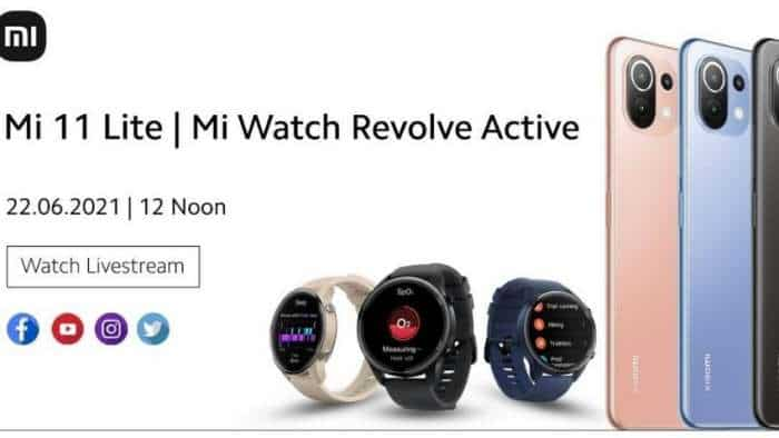 Xiaomi Mi 11 Lite, Watch Revolve Active India launch TODAY: From LIVE streaming, expected PRICE to specs - check all details here