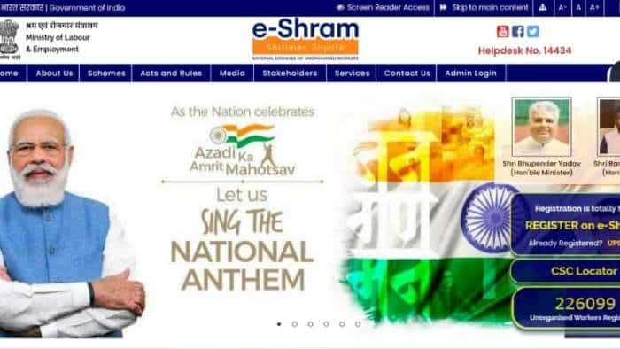 How unorganised sector workers can REGISTER on e-SHRAM portal at eshram.gov.in? Check FULL PROCESS here; see BENEFITS, ELIGIBILITY and MORE