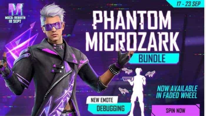 Garena Free Fire latest update: Here's how to get Phantom Microzark bundle and more; check latest Free Fire redeem code process