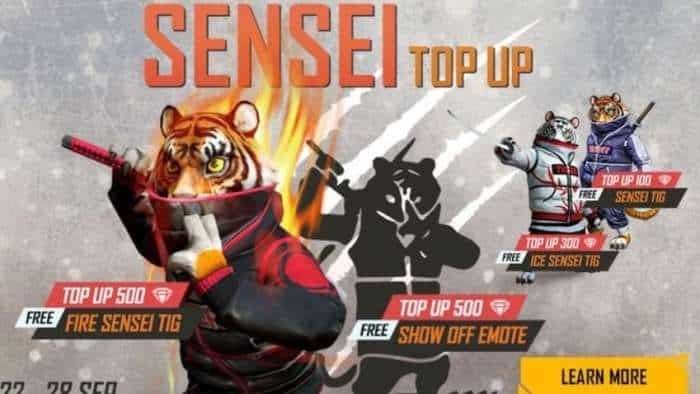 Garena Free Fire latest update: Sensei Tig Top-Up event to end on September 28;  Check how to get latest Free Fire redeem codes