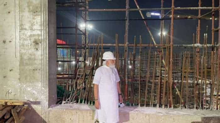 New Parliament building site: PM Narendra Modi pays visit - Check pics