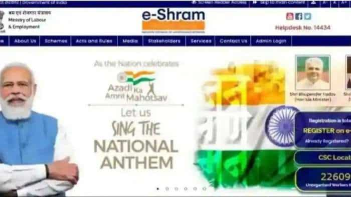 e-Shram card registration done? Check process, benefits and other details