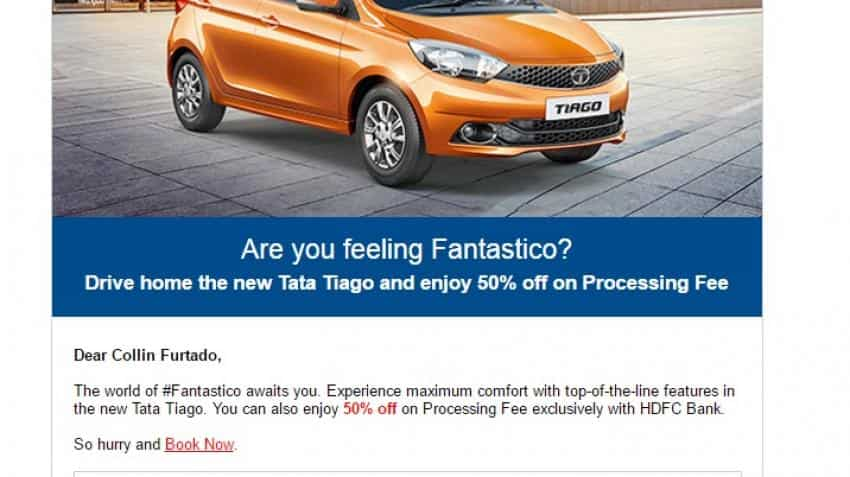 HDFC Bank waives off half of processing fee for Tata Tiago. Will it help?