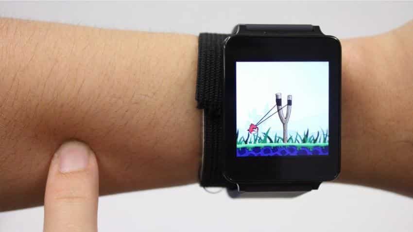 Now, new wearable technology developed that turns arm into a touchpad