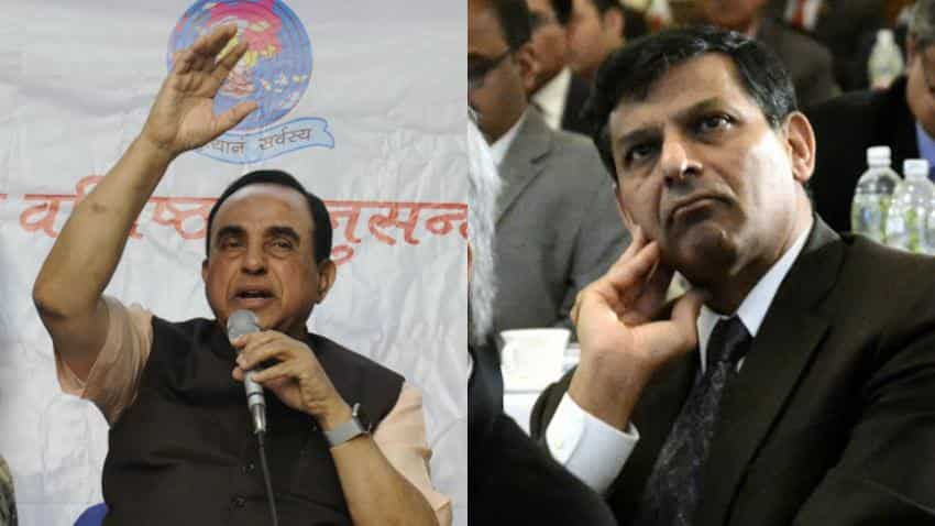 Subramanian Swamy again urges PM Modi to remove Raghuram Rajan