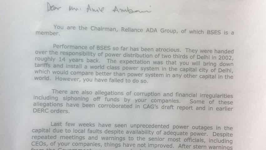 Delhi Govt summons Anil Ambani; says power cuts must stop