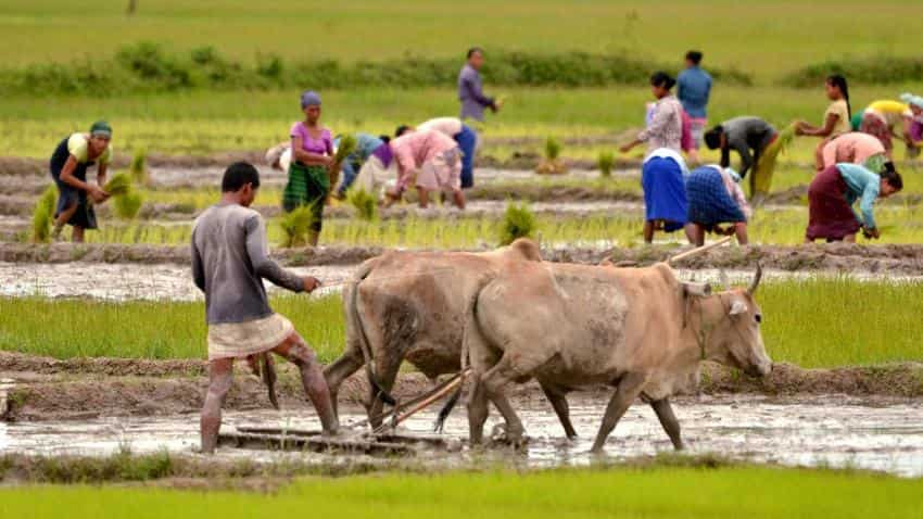 Area sown with Kharif crops lower than last year