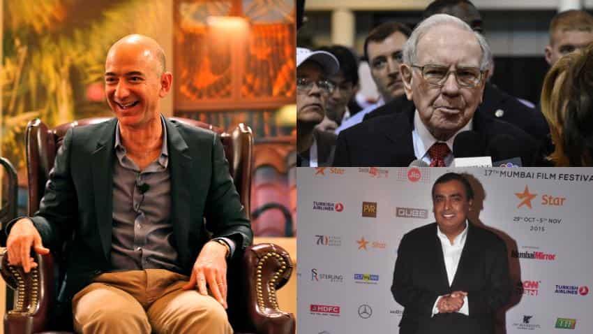 Bezos is now richer than Buffet, Mukesh Ambani jumps 2 spots