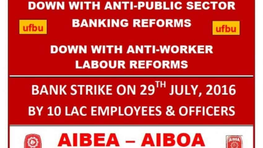 10 lakh PSU bank employees go on strike today; services affected