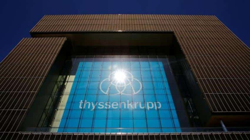 Thyssenkrupp steel workers protest European biz merger plans with Tata Steel