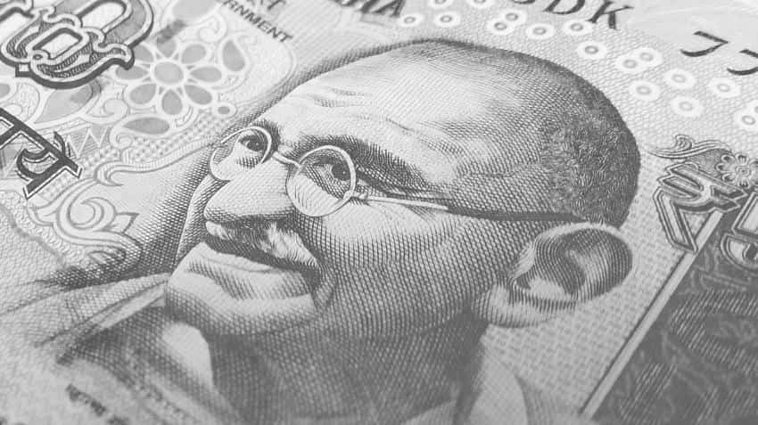 Rupee falls 10 paise against dollar on weak GDP data
