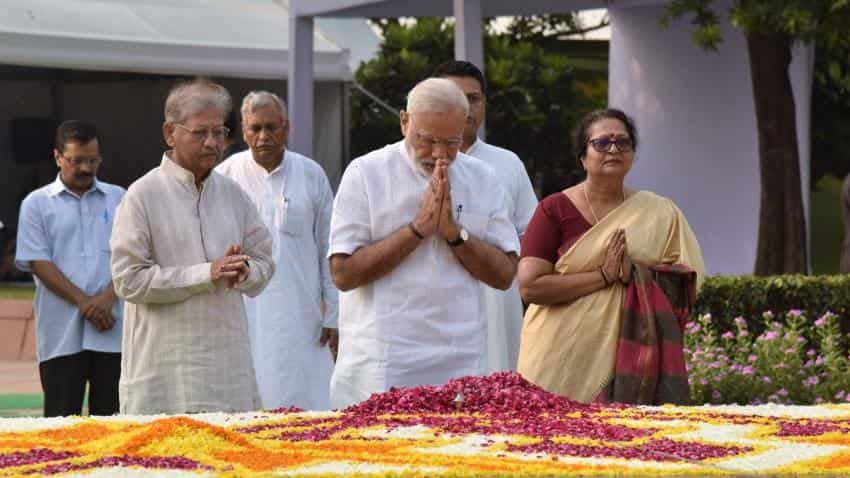 PM Narendra Modi pays tribute to Mahatma Gandhi, Lal Bahadur Shastri