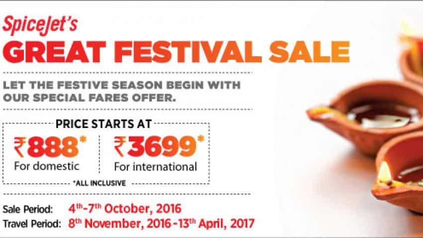 Great Festive sale offer: SpiceJet offers tickets for Rs 888