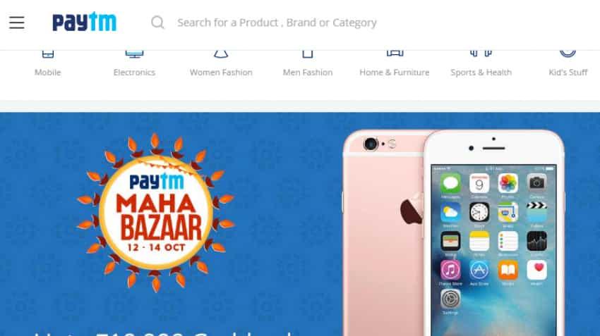 Paytm launches 'Maha Bazaar Sale' on Oct 12