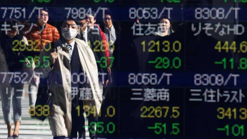 Asia stocks try to share Wall St. joy, U.S. yields a burden