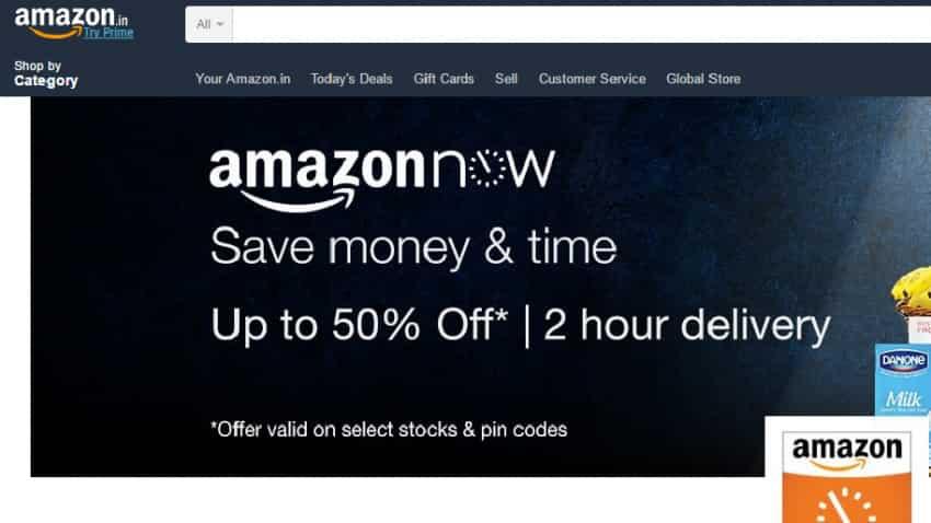 Now, order your daily essentials via AmazonNow app in Delhi, Mumbai