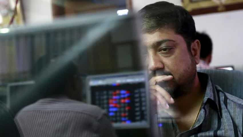 Equity indices open in green; SBI shares down 1%