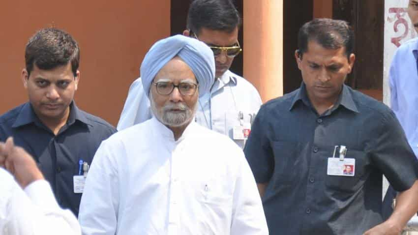 Indian economy is not in good shape is obvious, says former prime minister & Congress leader Manmohan Singh