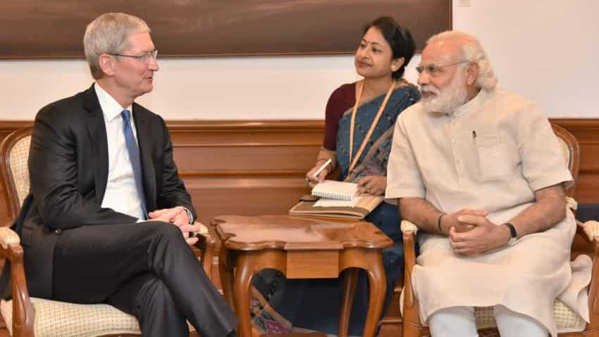 Apple CEO Tim Cook says demonetisation move still an overhang, but a 'great move'
