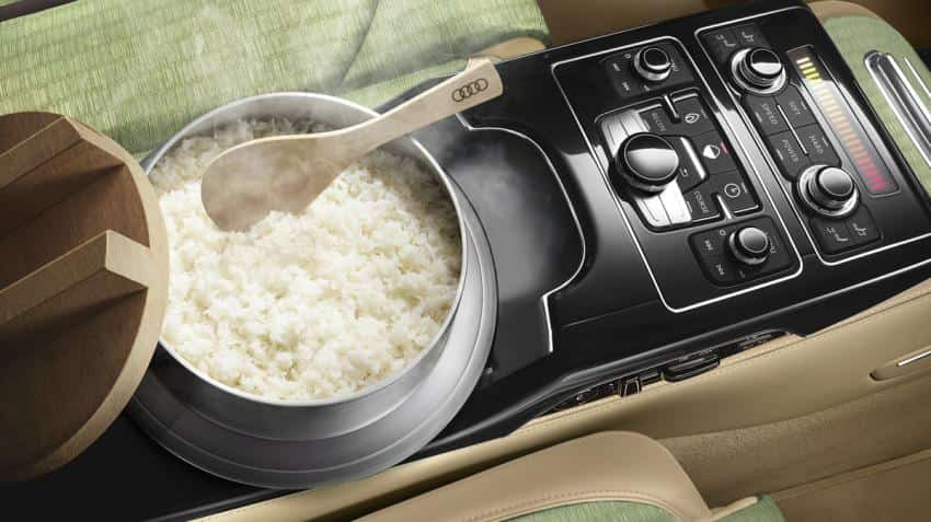Want to cook rice while driving your car? Audi has it covered