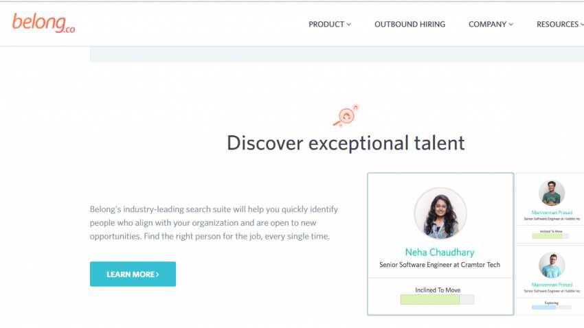 Bengaluru-based hiring start-up firm Belong.co raises $10 million; Sequoia Capital leads funding round