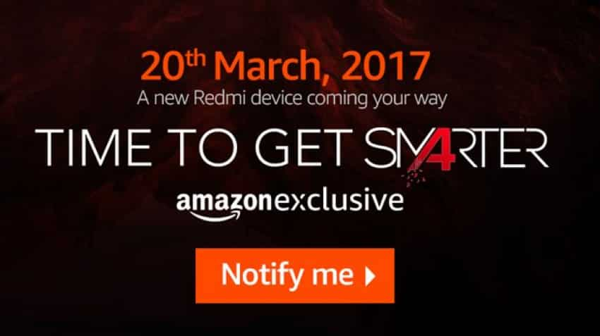 Xiaomi likely to launch Redmi 4A on March 20 in India; partners exclusively with Amazon