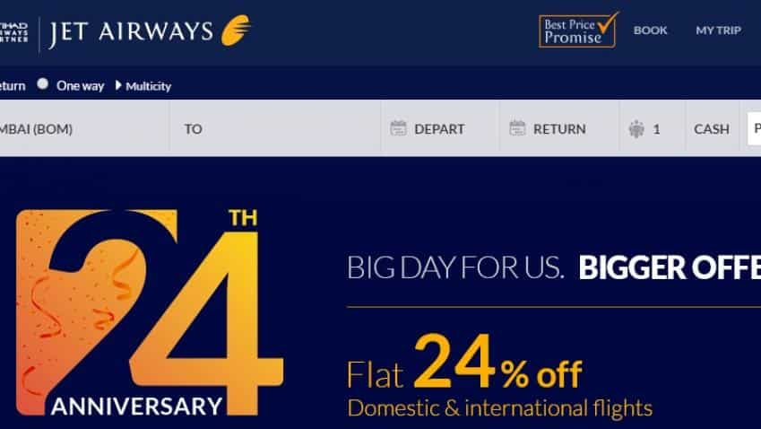 Jet Airways turns 24 today; announces special discount