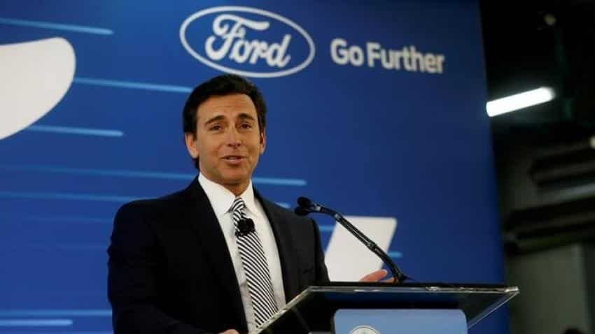 Ford replaces CEO Mark Fields with James Hackett as challenges mount