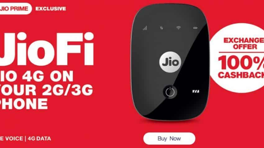 Reliance Jio offers JioFi hotspot for free