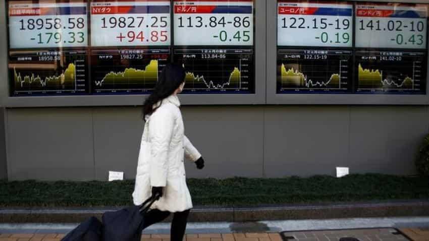 Asia stocks edge up on firmer Wall Street, pound nurses losses