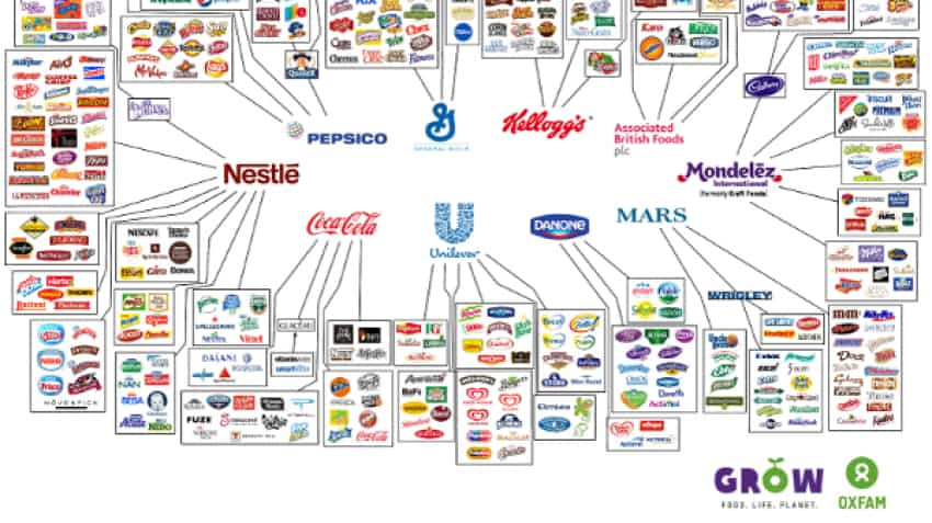 Nestle, PepsiCo & other 8 companies control everything you buy
