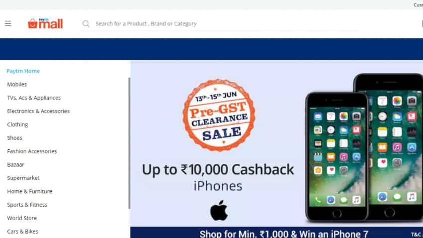 Here's how you can get up to Rs 10,000 cashback on iPhones on Paytm Mall's Pre-GST Sale