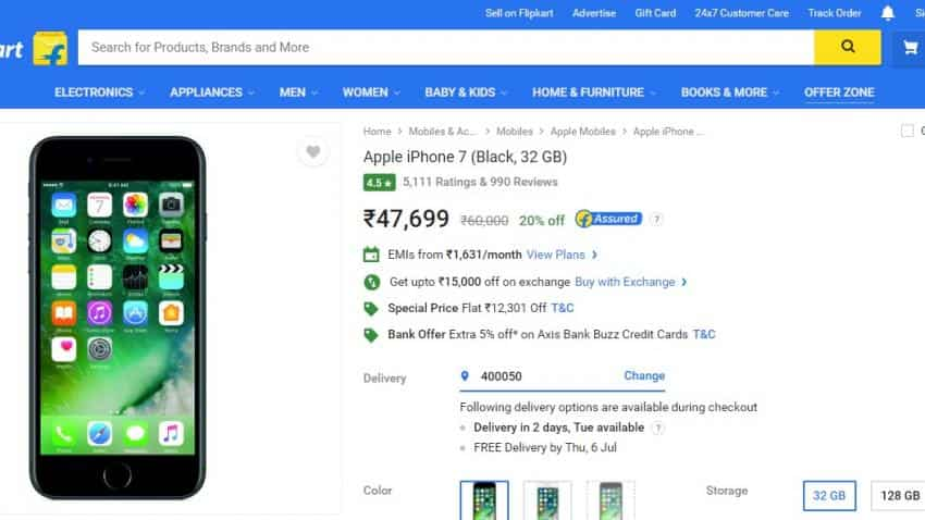 Apple India reduces price of iPhone 7 but buy it for Rs 32,800 on Flipkart