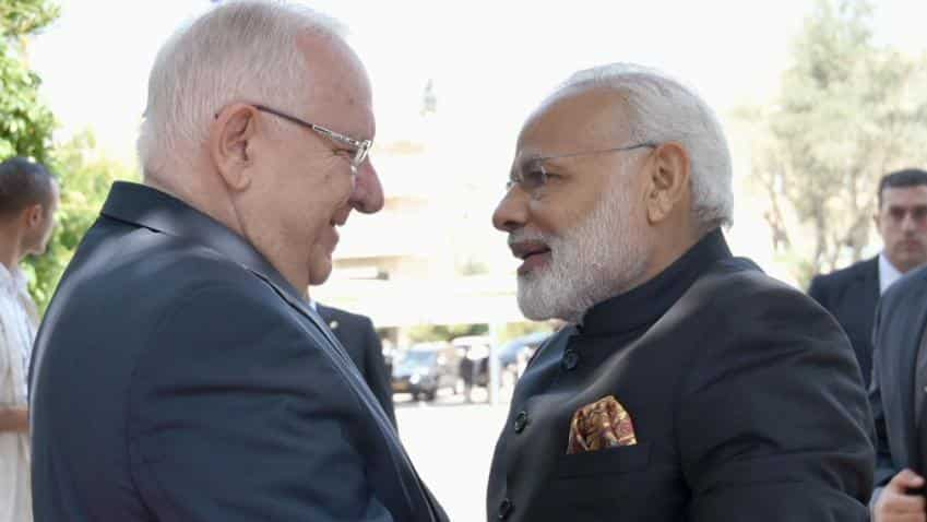 India, Israel ink seven pacts during PM Modi's historic visit