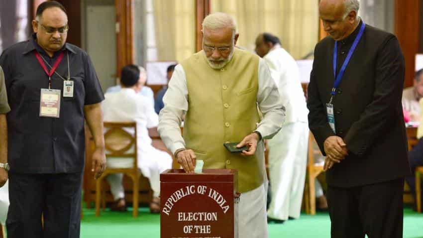 PM Narendra Modi, Shah among first to vote in Presidential election