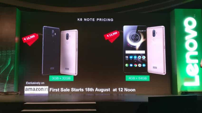 Lenovo launches K8 Note in India for Rs 12,999; all you need to know