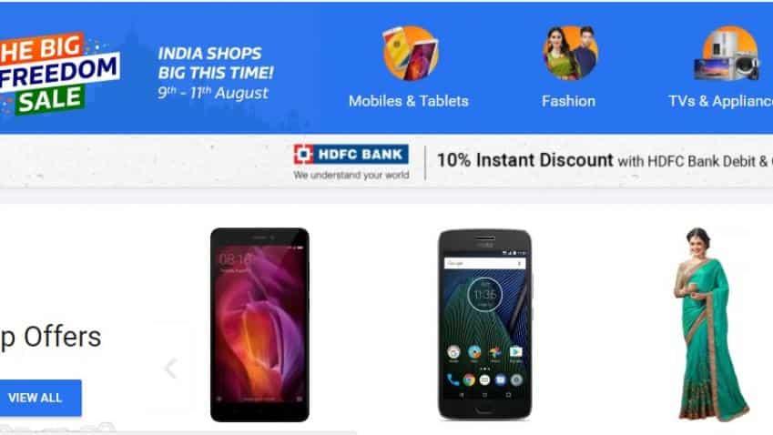 Big Freedom Sale: Flipkart offers additional 10% discount for HDFC bank debit, credit card holders