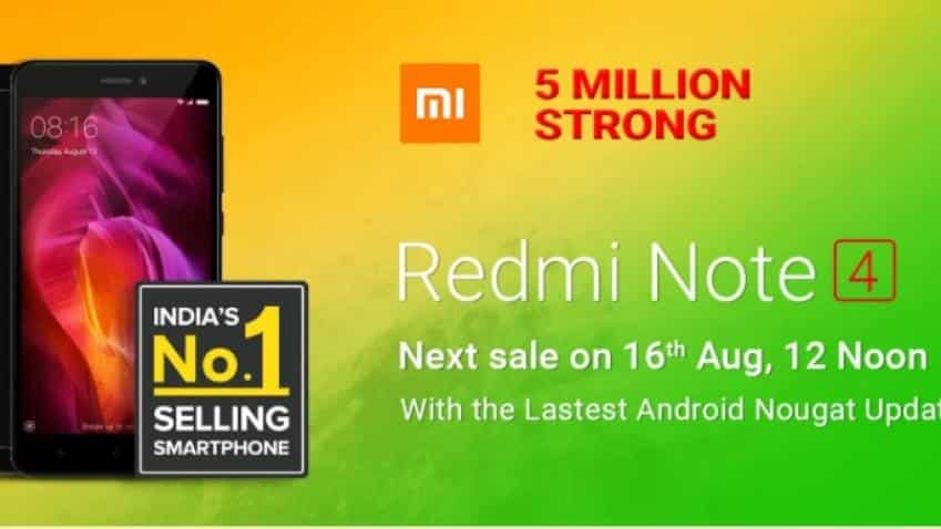Flipkart to sell Xiaomi Redmi Note 4 with latest Android Nougat update on August 16