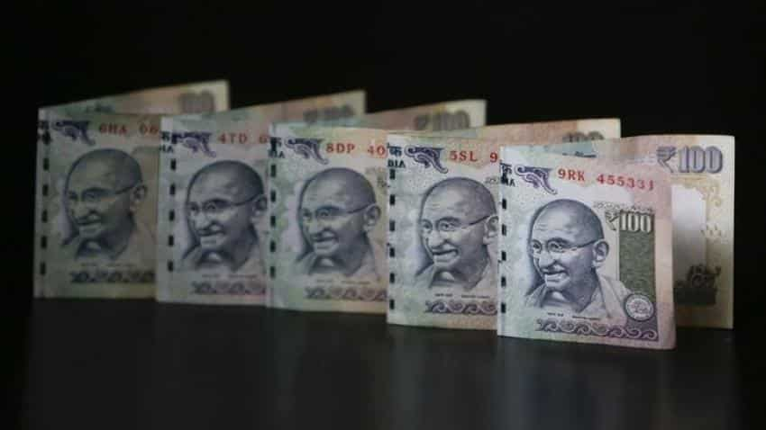 Rupee stretches gains, up 5 paise at 64.05