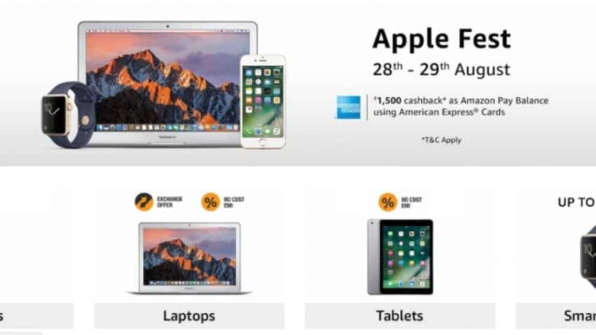 Amazon begins Apple Fest; offers Rs 1500 cashback but there's a catch